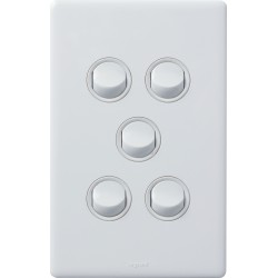 Legrand Excel Life 5 Gang Switch