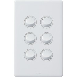 Legrand Excel Life 6 Gang Switch