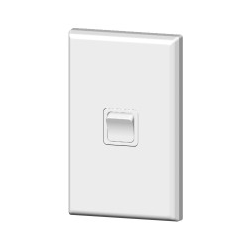 PDL681 Single light switch 20amp White