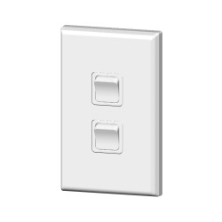 PDL682 Double light switch 20amp White