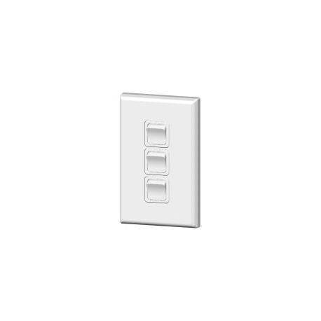 PDL682 Triple light switch 20amp White