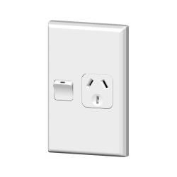 PDL 691 Single Vertical Socket 10A White