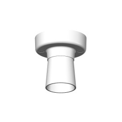 PDL 29L Batten lamp holder white
